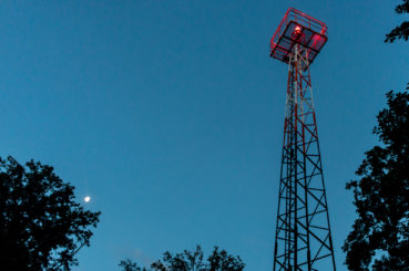 Der Funkmast auf dem Telegraphenberg