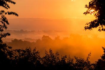 Sonnenaufgang über der Wahner Heide