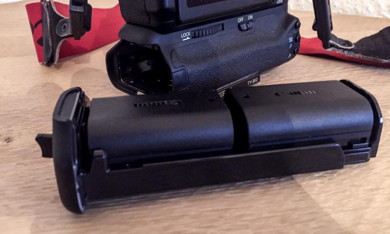 Batteriegriff und Akkus meiner Canon EOS 70D