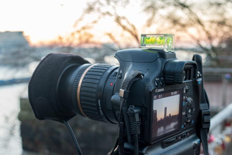 Heizmanschette im Einsatz - die Kamera war hinterher klitschnass, die Frontlinse jedoch frei