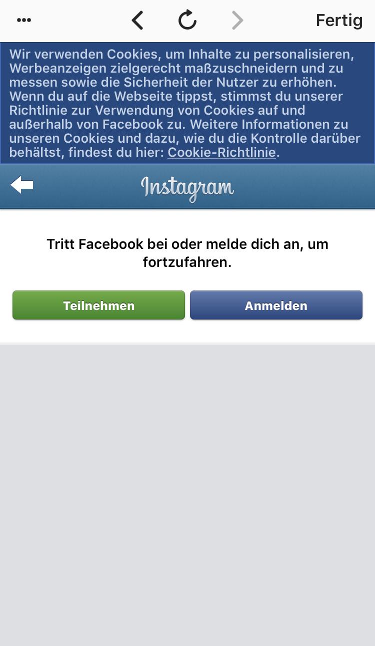 instagram mit facebook anmelden oder nicht