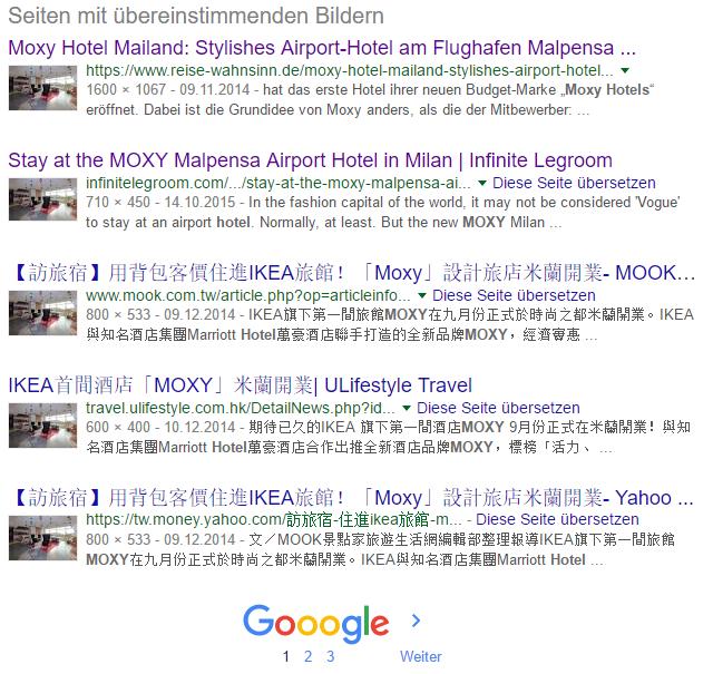 Ergebnis der Google Bildersuche